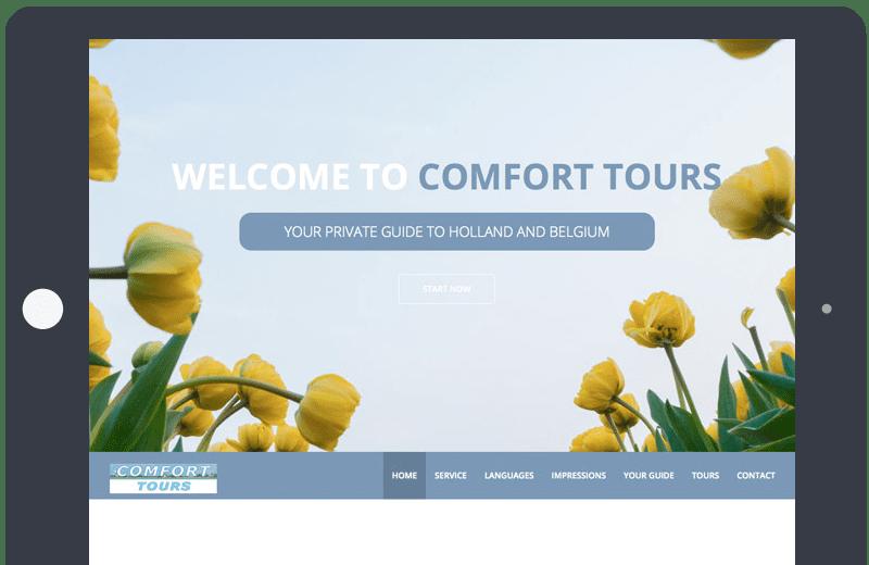 Voorbeeld Onepage Comforttours