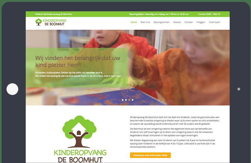 Voorbeeld Onepage kinderopvang
