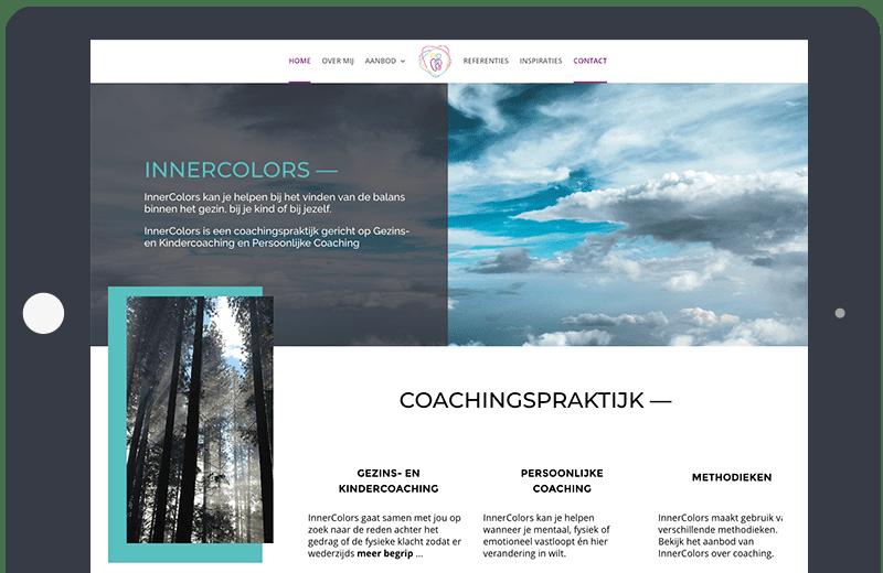 Voorbeeld Onepage Coaching praktijk InnerColors