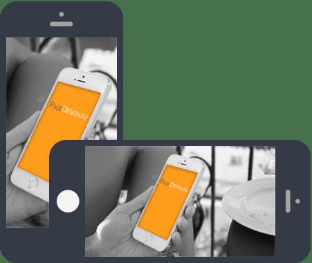 Voorbeeld Onepage op mobiel