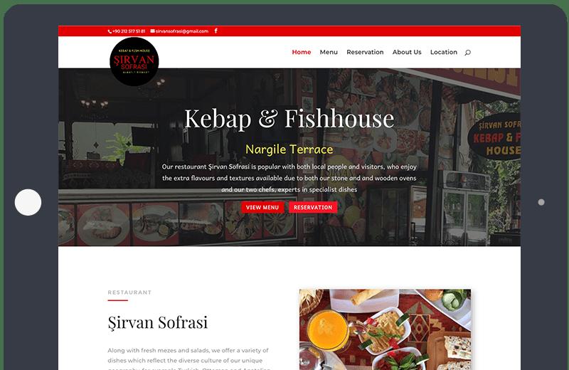 Voorbeeld Onepage Restaurant Sirvan Sofrasi