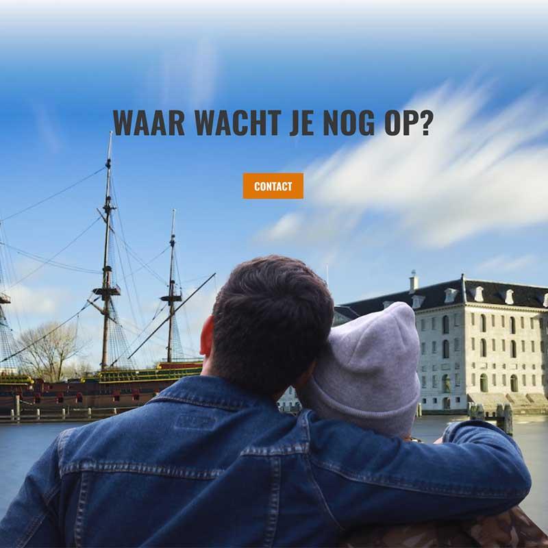 Onepage voorbeeld 2 - Foto achtergrond