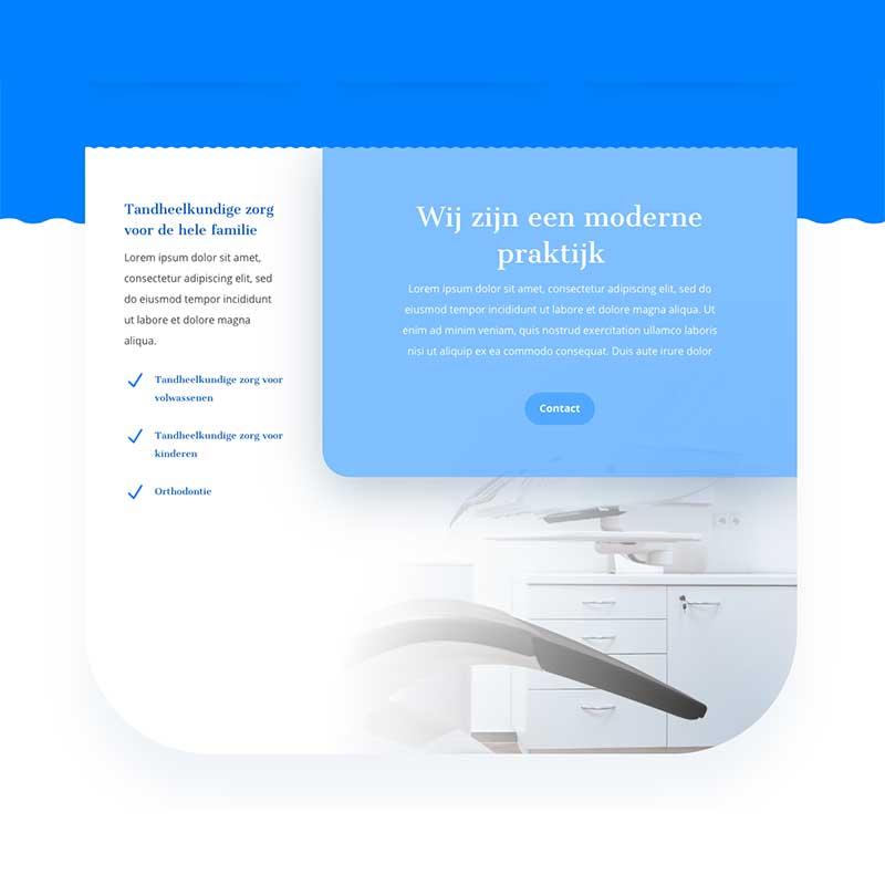 Onepage Premium pakket voorbeeld 6 - teksten en contact