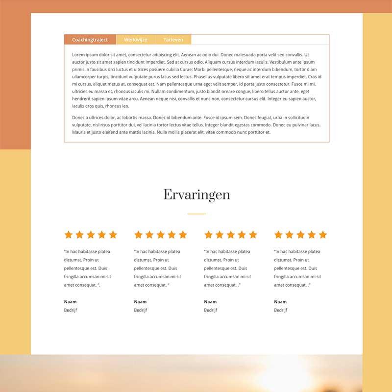 Onepage Starter pakket voorbeeld 9 - Tabs en referenties