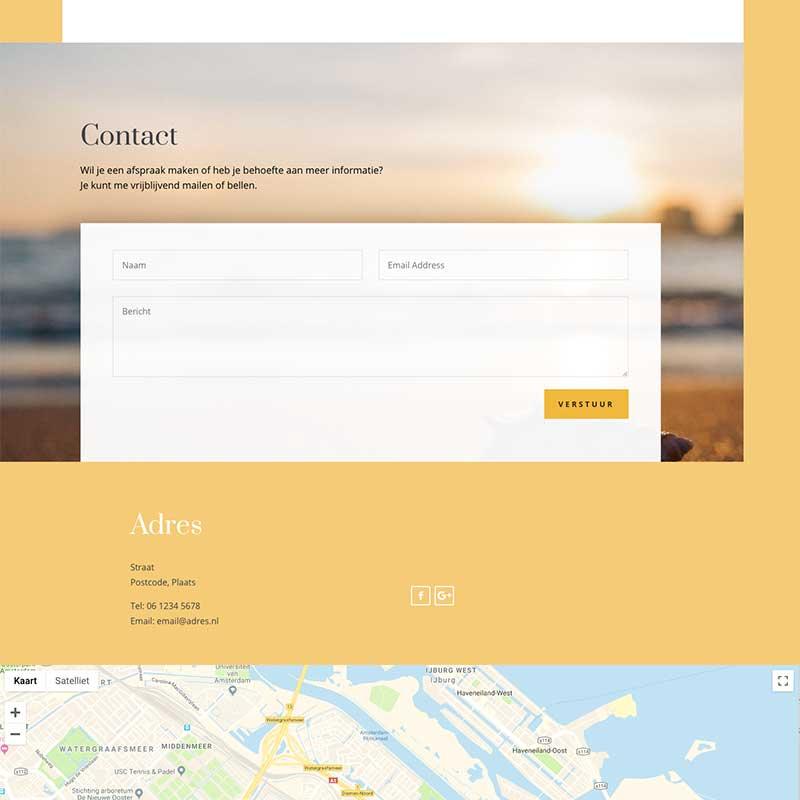 Onepage Starter pakket voorbeeld 9 - Contact formulier en Google map