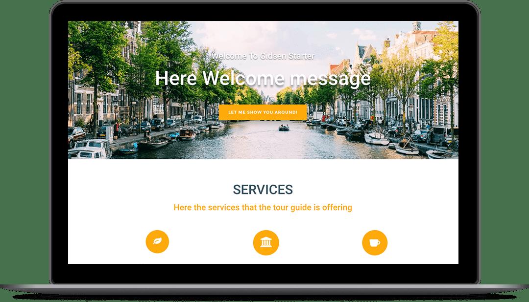 Onepage  - Screenshot website voorbeeld 1