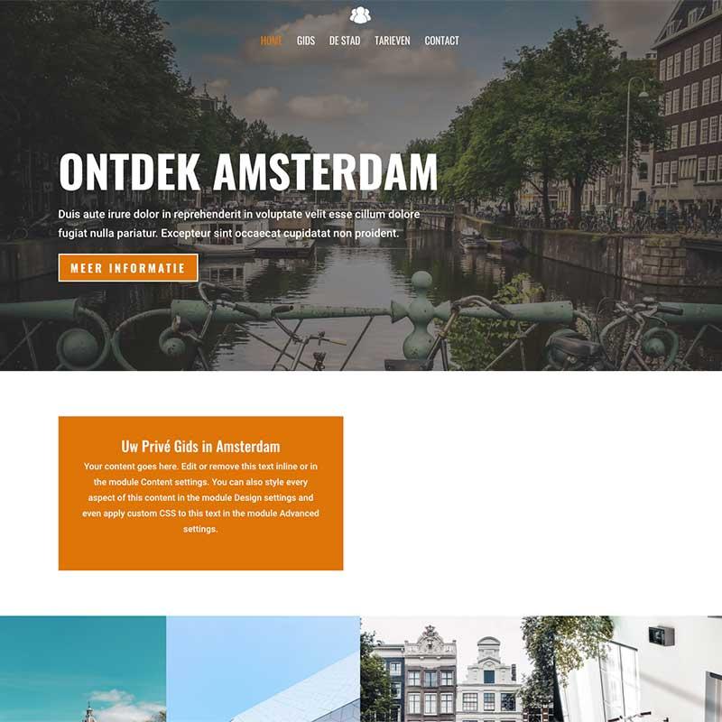 Onepage  - Screenshot website voorbeeld 2