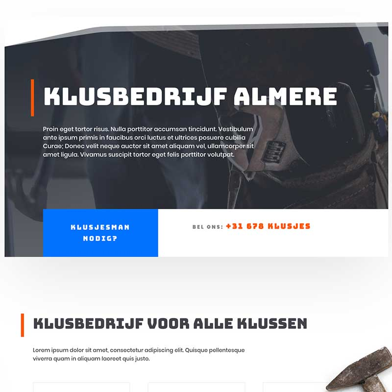 Onepage  - Screenshot website voorbeeld 4