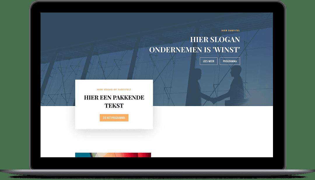 Onepage  - Screenshot website voorbeeld 10